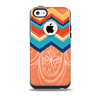 The Orange Dreamcatcher Chevron Skin for the iPhone 5c OtterBox Commuter Case