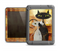 The Orange Grungy Textured Cat Apple iPad Air LifeProof Fre Case Skin Set