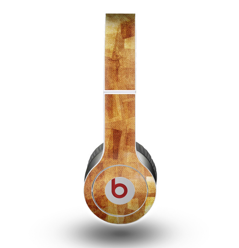 The Orange Grungy Textured Cat Skin for the Beats by Dre Original Solo-Solo HD Headphones