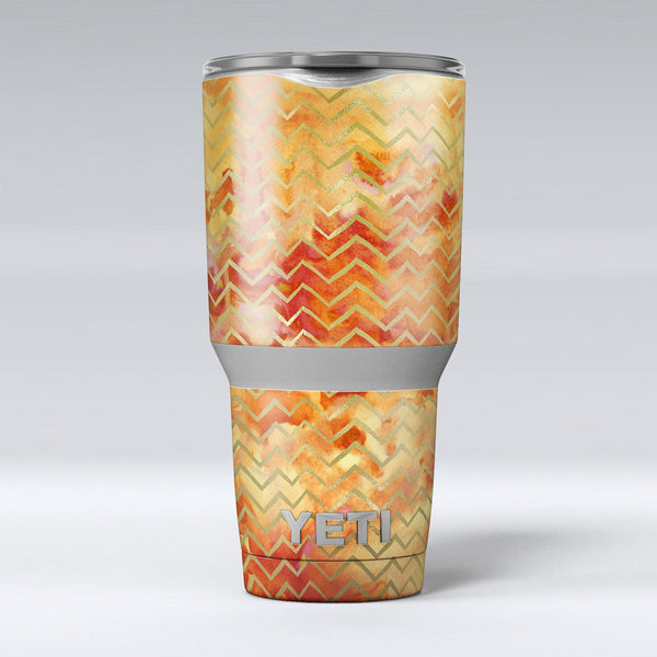 The_Orange_Grungy_Watercolors_with_Chevron_-_Yeti_Rambler_Skin_Kit_-_30oz_-_V1.jpg