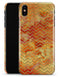 The Orange Grungy Watercolors with Chevron - iPhone X Clipit Case