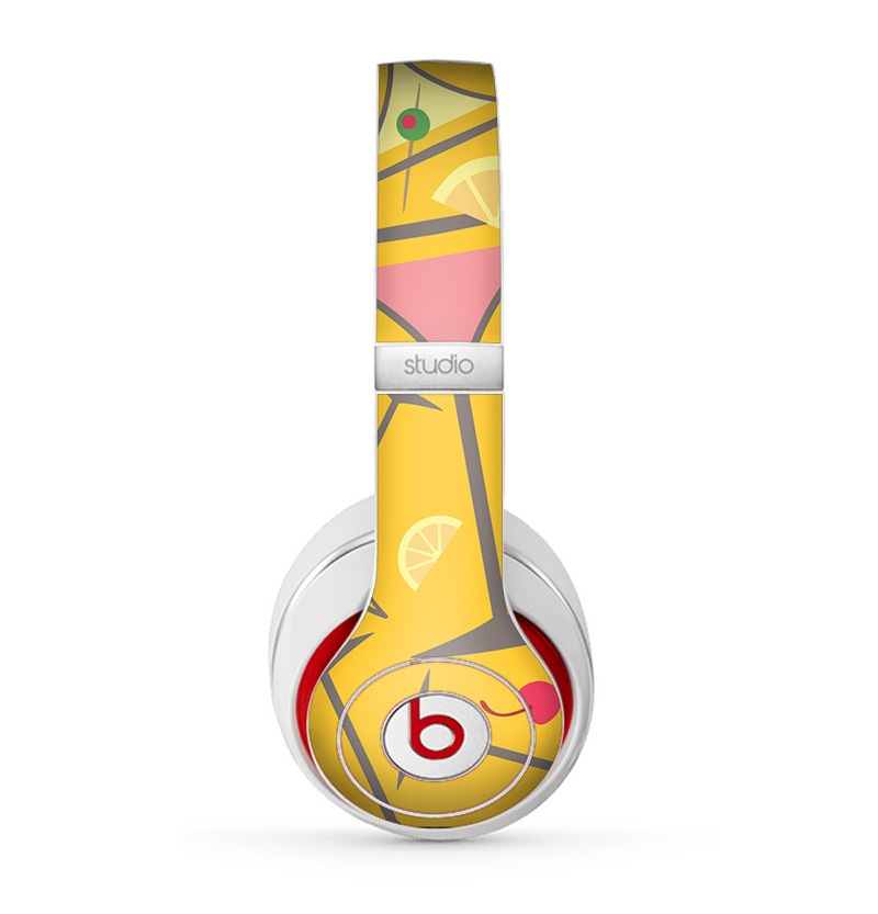 The Orange Martini Drinks With Lemons Skin for the Beats by Dre Studio (2013+ Version) Headphones