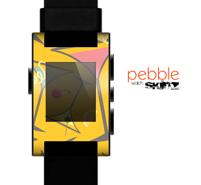 The Orange Martini Drinks With Lemons Skin for the Pebble SmartWatch