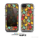 The Orange & Red Cute Vector Birds Skin for the Apple iPhone 5c LifeProof Case