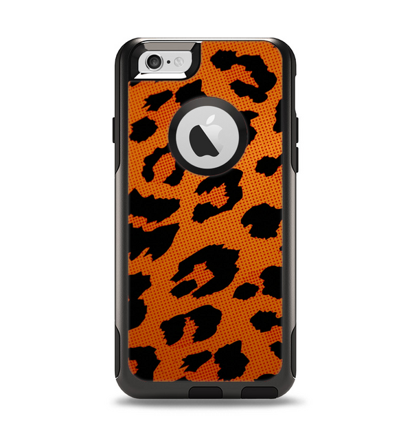 The Orange Vector Animal Print Apple iPhone 6 Otterbox Commuter Case Skin Set