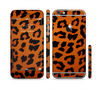 The Orange Vector Animal Print Sectioned Skin Series for the Apple iPhone 6 Plus