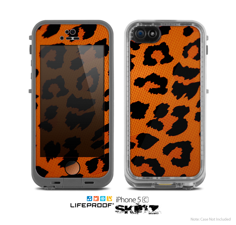 The Orange Vector Animal Print Skin for the Apple iPhone 5c LifeProof Case