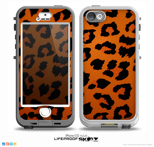 The Orange Vector Animal Print Skin for the iPhone 5-5s NUUD LifeProof Case for the LifeProof Skin