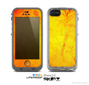 The Orange Vibrant Texture Skin for the Apple iPhone 5c LifeProof Case