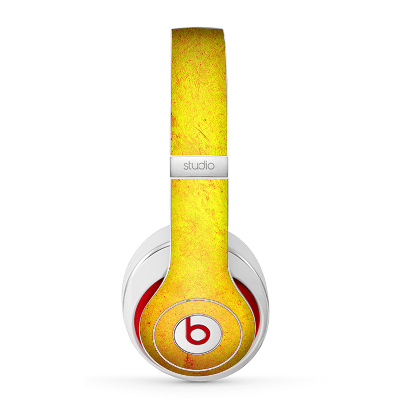 The Orange Vibrant Texture Skin for the Beats by Dre Studio (2013+ Version) Headphones