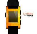 The Orange Vibrant Texture Skin for the Pebble SmartWatch