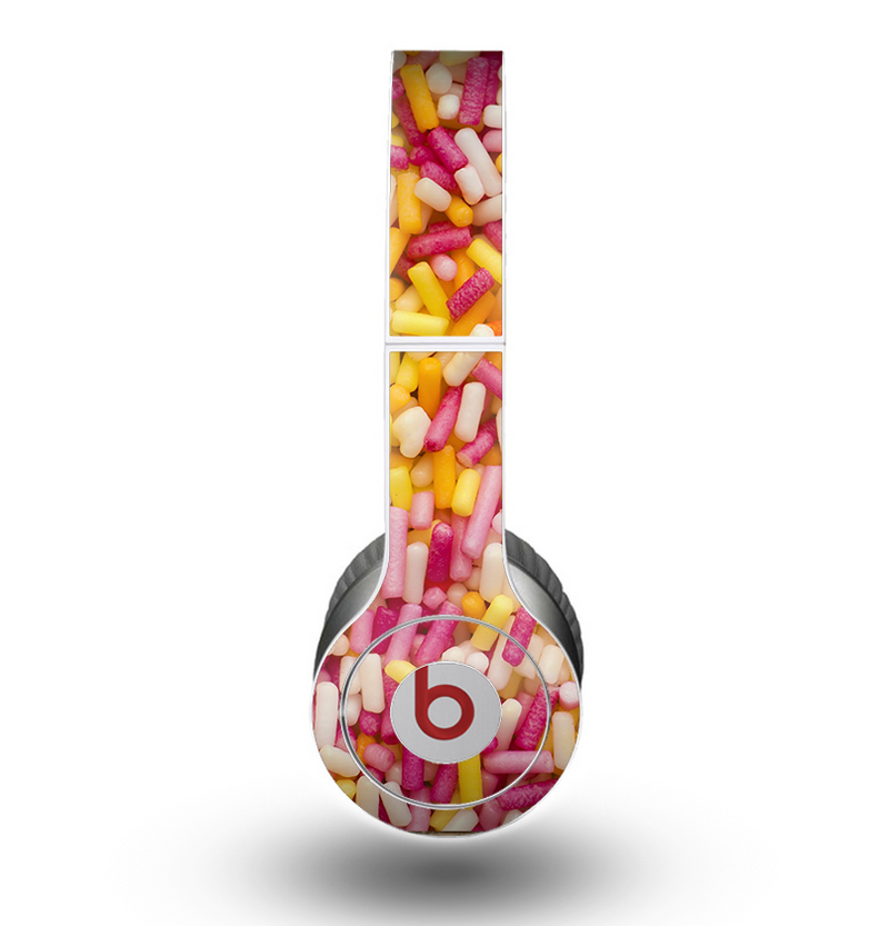 The Orange and Pink Candy Sprinkles Skin for the Beats by Dre Original Solo-Solo HD Headphones