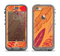 The Orange and Red Vector Feathers Apple iPhone 5c LifeProof Nuud Case Skin Set