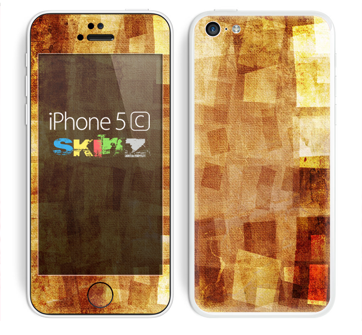 The Oranged Patch Layers Vintage Skin for the Apple iPhone 5c