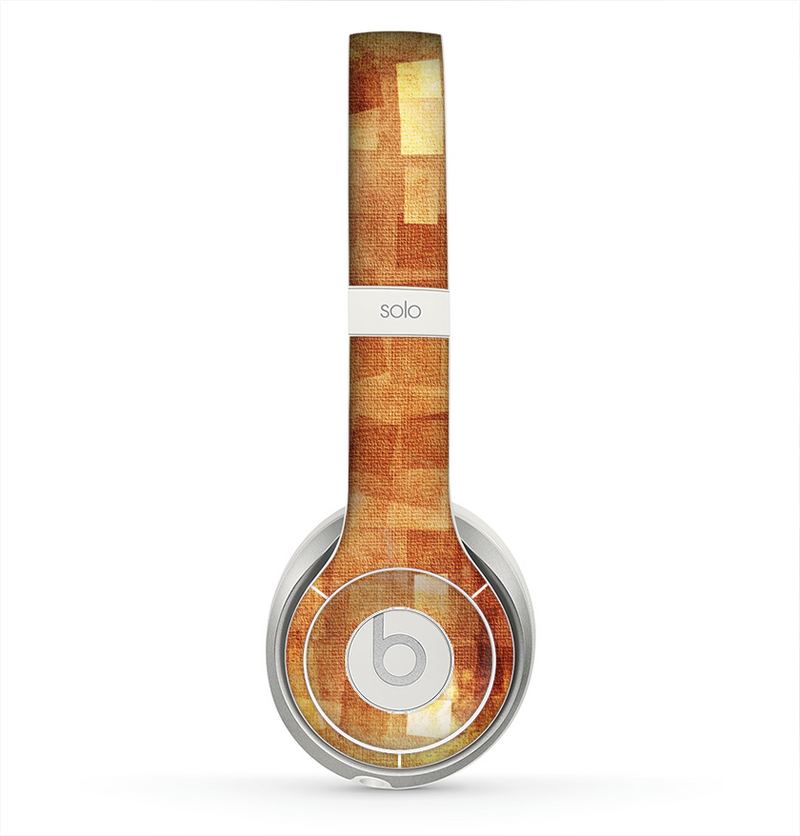 The Oranged Patch Layers Vintage Skin for the Beats by Dre Solo 2 Headphones