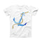 The Painted Blue Summer Anchor ink-Fuzed Front Spot Graphic Unisex Soft-Fitted Tee Shirt
