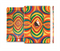 The Painted Colorful Curves Full Body Skin Set for the Apple iPad Mini 3