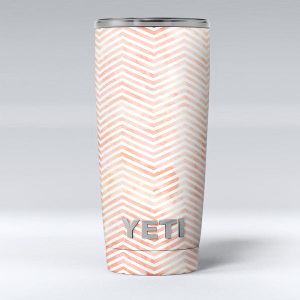 The_Pale_Orange_Watercolored_Chevron_Pattern_-_Yeti_Rambler_Skin_Kit_-_20oz_-_V1.jpg