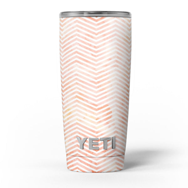 The_Pale_Orange_Watercolored_Chevron_Pattern_-_Yeti_Rambler_Skin_Kit_-_20oz_-_V5.jpg
