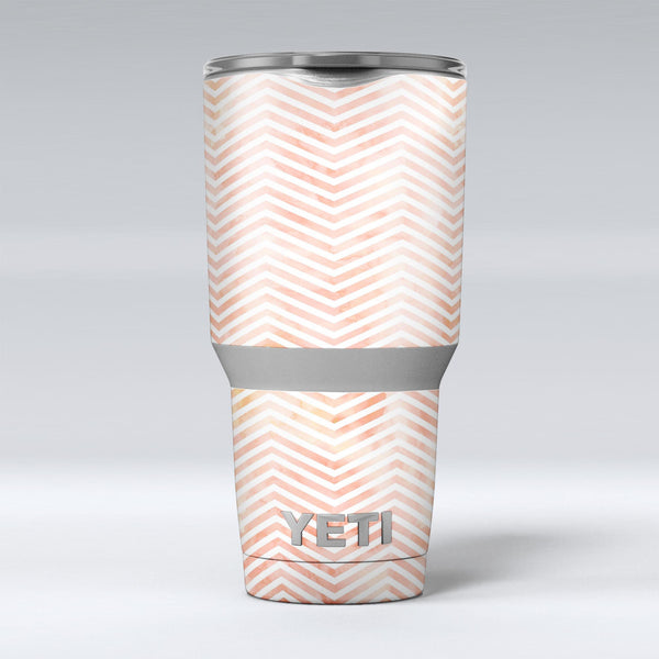The_Pale_Orange_Watercolored_Chevron_Pattern_-_Yeti_Rambler_Skin_Kit_-_30oz_-_V1.jpg