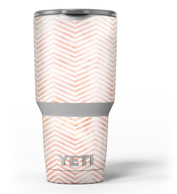 The_Pale_Orange_Watercolored_Chevron_Pattern_-_Yeti_Rambler_Skin_Kit_-_30oz_-_V3.jpg