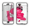 The Paris Pink Illustration Apple iPhone 6 Plus LifeProof Nuud Case Skin Set