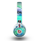 The Pastel Vibrant Blue Dolphin Skin for the Beats by Dre Mixr Headphones