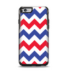 The Patriotic Chevron Pattern Apple iPhone 6 Otterbox Symmetry Case Skin Set