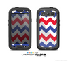 The Patriotic Chevron Pattern Skin For The Samsung Galaxy S3 LifeProof Case