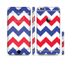 The Patriotic Chevron Pattern Sectioned Skin Series for the Apple iPhone 6 Plus