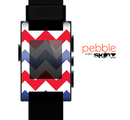The Patriotic Chevron Pattern Skin for the Pebble SmartWatch