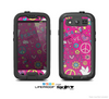 The Peace Love Pink Illustration Skin For The Samsung Galaxy S3 LifeProof Case