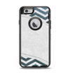 The Peeled Vintage Blue & Gray Chevron Pattern Apple iPhone 6 Otterbox Defender Case Skin Set