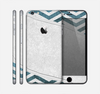 The Peeled Vintage Blue & Gray Chevron Pattern Skin for the Apple iPhone 6 Plus