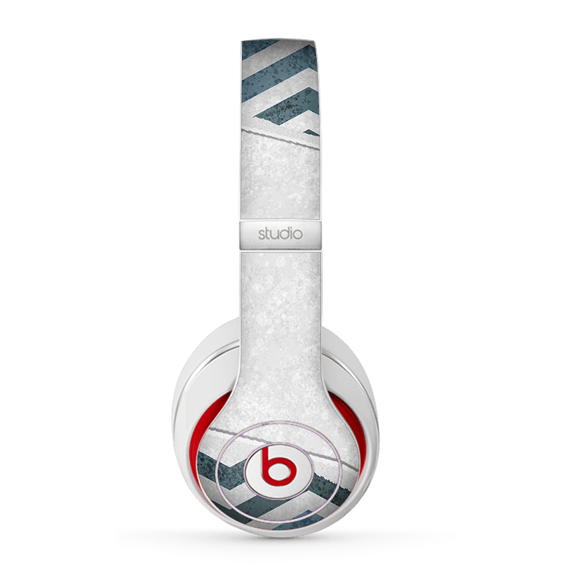 The Peeled Vintage Blue & Gray Chevron Pattern Skin for the Beats by Dre Studio (2013+ Version) Headphones