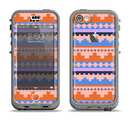 The Pink-Blue & Coral Tribal Ethic Geometric Pattern Apple iPhone 5c LifeProof Nuud Case Skin Set