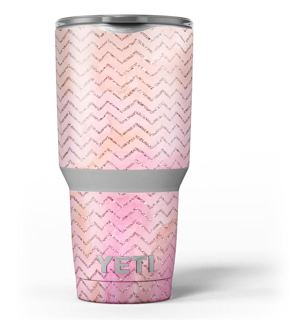 The_Pink_Abstract_Watercolor_Sparkling_Chevron_-_Yeti_Rambler_Skin_Kit_-_30oz_-_V3.jpg