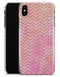 The Pink Abstract Watercolor Sparkling Chevron  - iPhone X Clipit Case