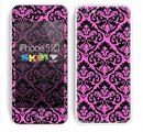 The Pink & Black Delicate Pattern Skin for the Apple iPhone 5c