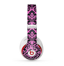 The Pink & Black Delicate Pattern Skin for the Beats by Dre Studio (2013+ Version) Headphones