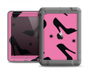 The Pink & Black High-Heel Pattern V12 Apple iPad Air LifeProof Fre Case Skin Set
