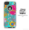 The Pink & Blue Abstract Life Cells Skin For The iPhone 4-4s or 5-5s Otterbox Commuter Case