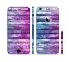 The Pink & Blue Dyed Wood Sectioned Skin Series for the Apple iPhone 6 Plus