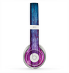 The Pink & Blue Dyed Wood Skin for the Beats by Dre Solo 2 Headphones