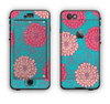 The Pink & Blue Floral Illustration Apple iPhone 6 Plus LifeProof Nuud Case Skin Set