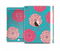 The Pink & Blue Floral Illustration Full Body Skin Set for the Apple iPad Mini 3