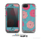 The Pink & Blue Floral Illustration Skin for the Apple iPhone 5c LifeProof Case