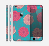 The Pink & Blue Floral Illustration Skin for the Apple iPhone 6 Plus