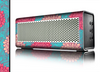 The Pink & Blue Floral Illustration Skin for the Braven 570 Wireless Bluetooth Speaker