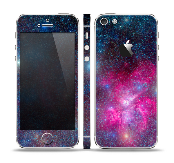 The Pink & Blue Galaxy Skin Set for the Apple iPhone 5